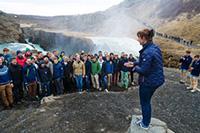 Christina Hörnell och Linköpings Studentsångare på Island