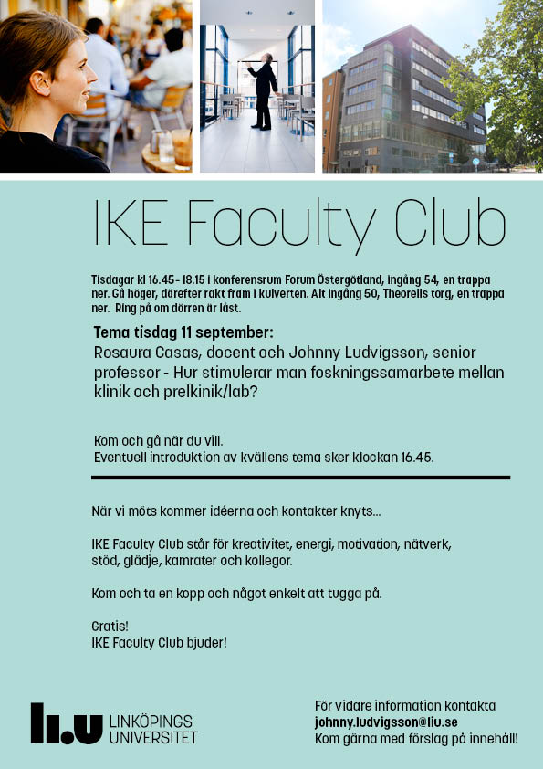 Annons Faculty Club 11 september