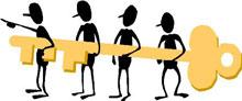 Illustration över samarbete