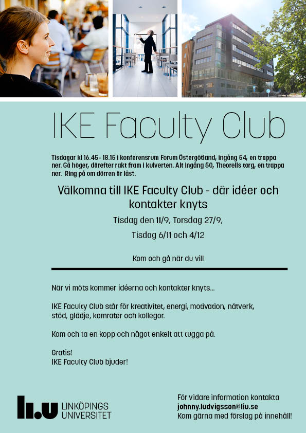 IKE Faculty Club annons