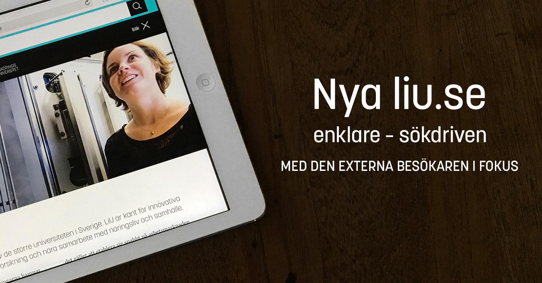Nya liu.se - enklare - sökdriven - med den externa besökaren i fokus